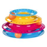 Jucarie Pisica Circuit cu Turn Plastic 25×13 cm 41345
