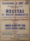 Afis recital al XI-lea Congres PCR,a XXX-a aniversare a eliberarii Romaniei/1974