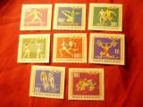 Serie Mongolia 1968 Olimpiada Mexico , 8 valori, Nestampilat