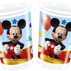 Pahare Mickey Mouse Playful din plastic 200ml set 8 buc
