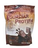 Proteina din Zer FourStar Protein Aroma Ciocolata cu Lapte 500 grame Scitec Nutrition Cod: SCNFRSTPRC