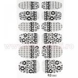 Set 12 tatuaje pentru toata unghia TZ037 Cosmic Matrix