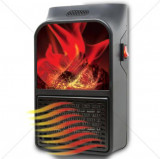 Cumpara ieftin Mini Aeroterma Portabila Flame Heater cu telecomanda si Display Putere 900W