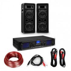 "Electronic-Star Amplificator HiFi și set de boxe, amplificator 2 x 250 W , 2 x boxe 6,5 "", 300 W RMS"