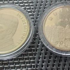 Lot 2 buc 50 Bani 2019 Ferdinand I si Vizita Papei in Caps Transp UNC