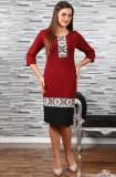 Cumpara ieftin Rochie Stilizata cu Motive Traditionale Camila 4