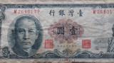 BANCNOTA 1 YUAN 1961 [?]-TAIWAN