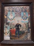Tablou militar austro-ungar regele Carol I regina Elisabeta