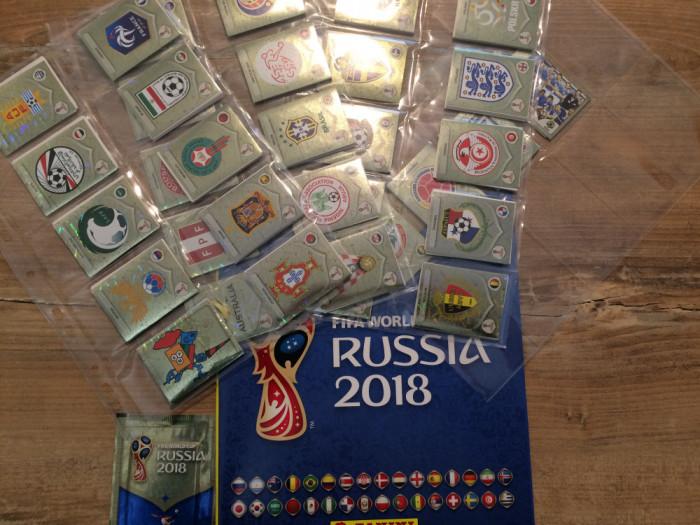 Panini World Cup Rusia 2018 Set complet de stickere + album gol