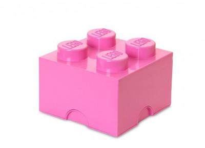 Cutie depozitare LEGO 2x2 - Roz foto