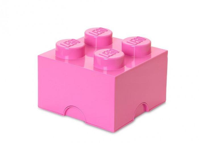 Cutie depozitare LEGO 2x2 - Roz