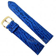 Curea de ceas albastra din piele de rechin 18mm, 20mm WZ2899