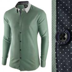 Camasa pentru barbati verde slim fit casual A La Fontaine