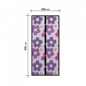 """Perdea anti-tantari pt. usi cu inchidere magnetica, 100 x 210 cm """"Flori colorate"""" Best CarHome"""