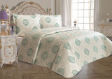 Cuvertură de pat Valentini Bianco din brocard, model Vivere Vernil