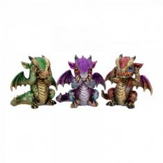 Set 3 statuete Trei dragonei intelepti 9 cm