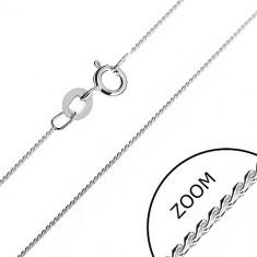 Lănțișor din argint - o linie finuță model șarpe formată din S-uri rotunjite, 0,6 mm