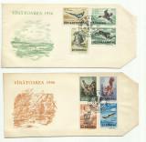 Romania FDC 1956 - Vanatoarea dantelat - LP 404 - ATENTIE: SET INCOMPLET!!!, Stampilat