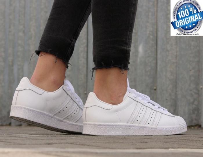ADIDASI ORIGINALI 100% Adidas Superstar 80' Leather white  NR 44 2/3