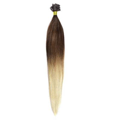 Cheratina Par Natural 50cm 50suv 1gr/suv Ombre Saten Ciocolatiu-Blond Deschis #T4/60 foto