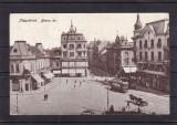 ORADEA  PIATA  REGELE  FERDINAND MAGAZINE  BANCA TRAMVAI TRASURA CIRCULATA 1915