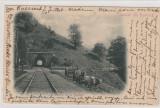 Busteni-Salutari din Romania-Tunelul de la Busteni,, Circulata, Printata
