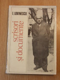 Cumpara ieftin SCRISORI SI DOCUMENTE-E. LOVINESCU, r1c