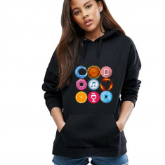Hanorac dama negru - Circle, L, M, S, XL
