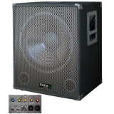Subwoofer activ 18 inch, 2 intrari linie, 1 intrare microfon, 1200 W, Ibiza