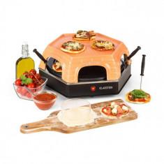 Klarstein Capricciosa, cuptor pentru pizza, 1500 W, capac din teracotă, funcția de menținere a căldurii