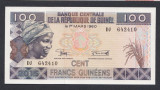 A3656 Guinea Guineea 100 francs 2015 UNC