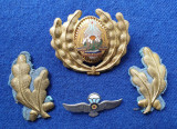 Insigna Militara Ofiter PARASUTISTI - Coifura insemn cascheta SEMN DE ARMA RSR