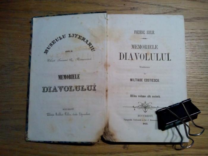 MEMORIELE DIAVOLULUI -  III -lea Volume  - Frederic Soulie - 1857, 376 p.