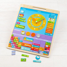 Vremea - Calendar magnetic in limba engleza PlayLearn Toys