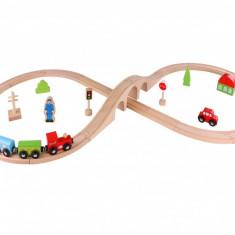 Circuit lemn set tren