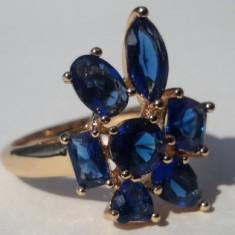 Inel Luxury Cocktail Blue Royal Sapphire,marime 7US,8US