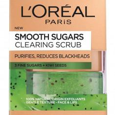 Scrub exfoliant cu zahar pentru ten cu puncte negre L Oreal Paris Smooth Sugars Clear Scrub 50 ml