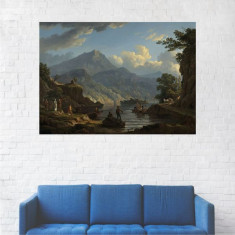 Tablou Canvas, Oameni la Pescuit - 20 x 25 cm