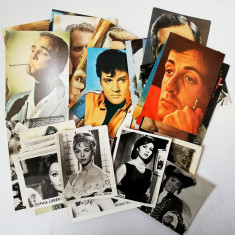 Lot 48 fotografii si carti postale cu Actori color si alb negru