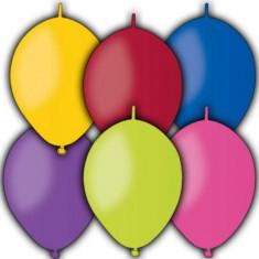 Baloane Cony din latex standard asortate 16cm Gemar set 100 buc