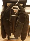 Geaca piele intoarsa MUSTANG, 40, Maro