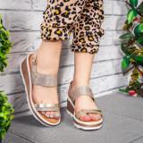 Sandale cu platforma dama aurii Salisea