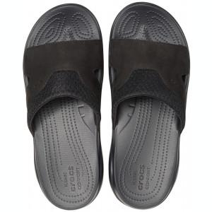 Papuci Bărbați casual Piele Crocs Swiftwater Leather Slide