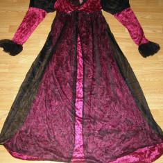 costum carnaval serbare rochie medievala regina printesa pentru adulti marime L