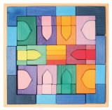 1001 Nopti fermecate - Set mare puzzle forme geometrice lemn