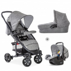 Set Carucior 3 in 1 Malibu 4 Trio Melange Grey