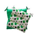 Cumpara ieftin Pernuta pentru scaun cu doua fete 0198494 45x45cm verde cu buline, RKO