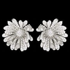 Cercei placati cu Aur 18K si Diamante, Tiffany