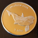 Moorea Island 1 dollar UNC 2019 UNC Orcinus orca, Australia si Oceania