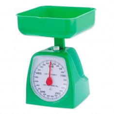 Cantar mecanic de bucatarie Zilan, 5 kg, Verde